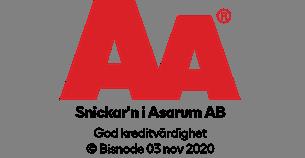 Snickarn innehar AA-rating vilket innebär att vi är en stabil och trygg partner med god ordning på ekonomin!